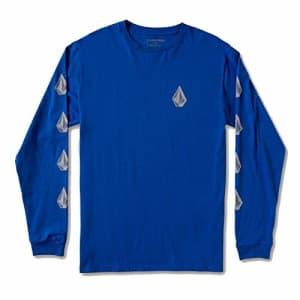 Volcom Men's Deadly Stones Long Sleeve T-Shirt, Royal, Small for $25