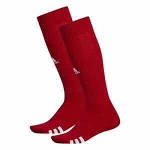 adidas Unisex Rivalry Field OTC Socks (2-Pair), University Red/ White, Medium for $12
