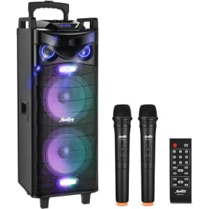 Moukey Bluetooth Karaoke Speaker for $132
