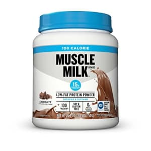 Muscle Milk 100 Calorie Protein Powder, Chocolate, 15g Protein, 1.65 Pound, 25 Servings for $24