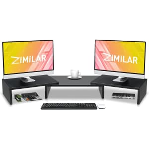 Zimilar Dual Monitor Stand Riser for $20