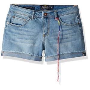 Lucky Brand Big Girls' 5-Pocket Cuffed Stretch Denim Short, Riley Christie wash, 14 for $38