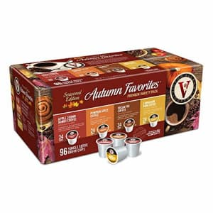 Autumn Favorites Variety Pack for K-Cup Keurig 2.0 Brewers, 96 Count, Victor Allen's Coffee Single for $32