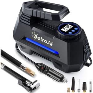 AstroAI 12V Portable Air Compressor Tire Inflator for $30