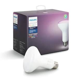 Philips Hue White and Color Ambiance BR30 60W Equivalent Dimmable LED Smart Flood Light, 1 Smart for $50