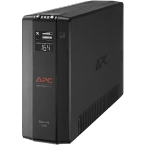 APC 1500VA Back-UPS Battery Backup & Surge Protector for $165