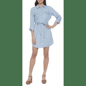 a.n.a Women's 3/4 Sleeve Shirt Dress for $16