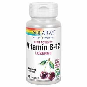 Solaray Vitamin B-12 5000mcg Lozenges | Natural Cherry Flavor | Healthy Energy & Nerve Function for $13