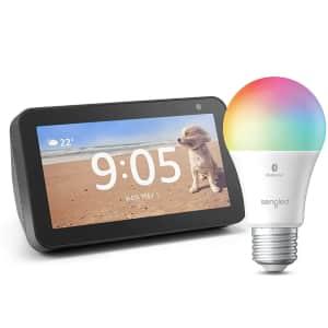 Amazon Echo Show 5 (2019) w/ Sengled Bluetooth Smart Color Bulb for $45