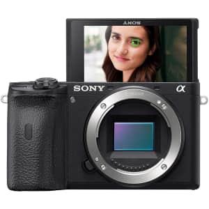 Sony Alpha a6600 24.2MP Mirrorless Digital Camera for $1,198