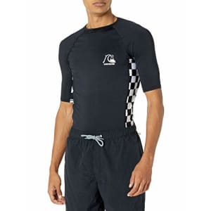 Quiksilver Men's Check This Short Sleeve UPF 50+ Sun Protection, Black, L for $17