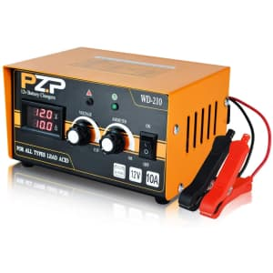PZP 0-10A 12V Adjustable Smart Battery Charger and Maintainer for $30