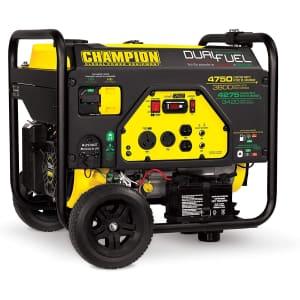 Champion Power Equipment 3800W Dual Fuel RV Ready Portable Generator for $699