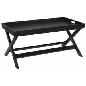 """StyleWell 40"""" Solid Wood Tray Top Coffee Table for $58"""