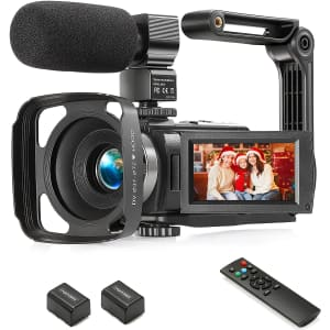 Yeehao 1080p Digital Camcorder w/ External Microphone for $60