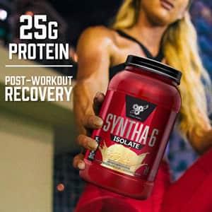 BSN SYNTHA-6 Isolate Protein Powder, Whey Protein Isolate, Milk Protein Isolate, Flavor: Vanilla for $106