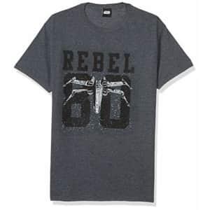 Star Wars Men's Rebel College T-Shirt, Athletic Heather, Large for $17