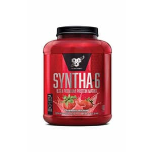 BSN SYNTHA-6 Protein Powder, Strawberry Milkshake, 5.0 Pound for $47