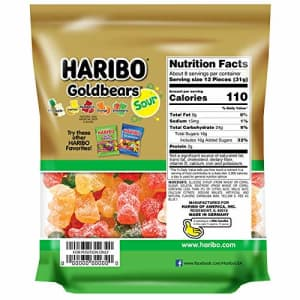 Haribo Goldbears Gummi Candy, Sour, 9 oz. Re-Sealable Bag, (Pack of 8) for $38