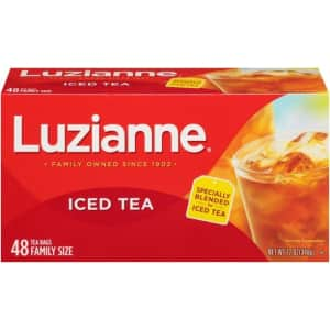 Luzianne 48-Ct. Family Size Iced Tea Bags for $4