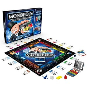 Hasbro Monopoly Super Electronic Banking Board Game for $24