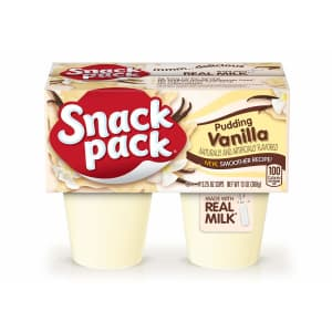 Snack Pack Vanilla Pudding Cup 4-Count 12-Pack for $7 via Sub & Save