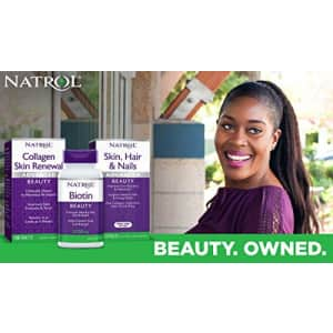 Natrol Biotin Beauty Tablets, Promotes Healthy Hair, Skin and Nails, Helps Support Energy for $24