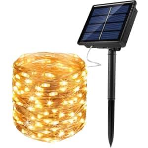 JosMega 72-Foot Solar Fairy String LED Lights for $9