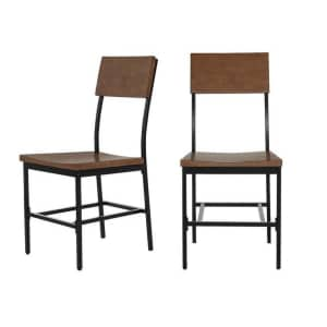 StyleWell Porter Wood and Metal Dining Chair 2-Pack for $90