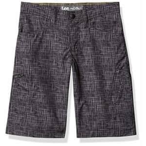 Lee Jeans Lee Boys' Big Dungarees Grafton Cargo Short, Broken Plaid Print, 18 Regular for $20