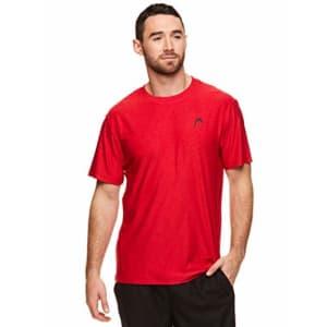 HEAD Men's Hypertek Crewneck Gym Tennis & Workout T-Shirt - Short Sleeve Activewear Top - Varsity for $13