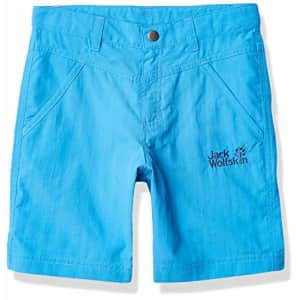 Jack Wolfskin Unisex Sun Shorts Kid's Nylon Shorts, sky blue, 164 (13-14 Years Old) for $40