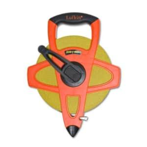 "Crescent Lufkin 1/2"" x 100m/328' Hi-Viz Orange Fiberglass SAE/Metric Dual Sided Tape Measure - for $57"