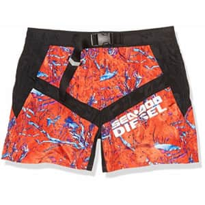 Diesel Men's BMBX-CAYBAYDOO Boxer-Shorts, Red/Multi, S for $42