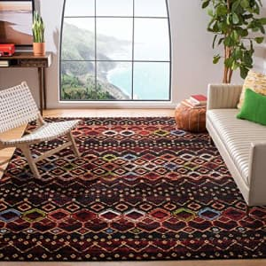 "Safavieh Amsterdam Collection AMS108P Moroccan Boho Non-Shedding Living Room Bedroom Area Rug, 5'1"" for $35"
