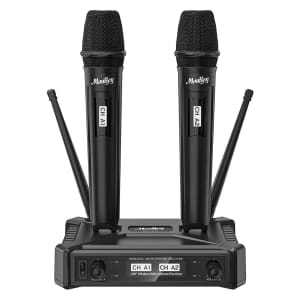 Moukey Wireless Microphones System for $40