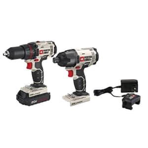 PORTER-CABLE 20V MAX Cordless Drill Combo Kit, 2-Tool (PCCK604LA) for $127