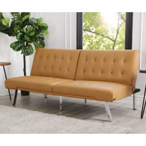 Abbyson Living Kenzie Faux Leather Foldable Futon Sofa Bed for $200 for members