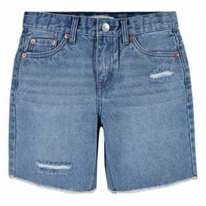 Levi's Girls' Denim Midi Shorts, Forever Light, 4T for $15
