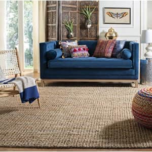Safavieh Natural Fiber Collection NF447A Hand-Woven 0.5-inch Thick Chunky Textured Jute Area Rug, for $140