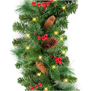 Best Choice Products 9ft. Pre-Lit Christmas Garland for $40
