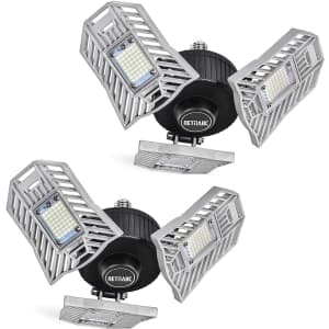 Retinabc 60W Deformable Garage Light 2-Pack for $20