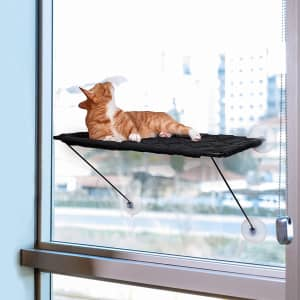 Enkrio Cat Window Hammock with Suction Cups for $12