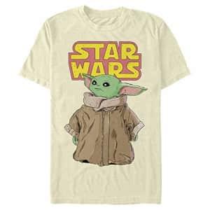 STAR WARS Men's T-Shirt, Cream, XXX-Large for $12