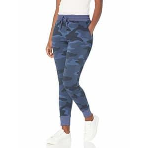 Splendid Women's Activewear Jogger Sweatpants, Navy Camo, Medium for $77