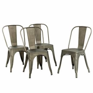 FDW Metal Chair Dining Chair Set of 4 Patio Chair Home Kitchen Chair 18 Inch Seat Height Dinning Room for $146