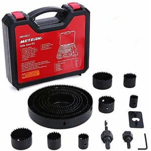 Meterk 17-Piece Hole Saw Set for $12 w/ Prime