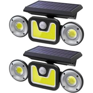 Ltteny Motion Sensor Outdoor Solar Light 2-Pack for $30
