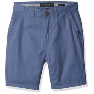 Quiksilver Boys' Big Everyday Chino Light Shorts Youth, Bijou Blue, 30/16 for $34