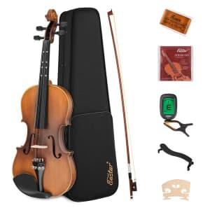 Eastar 8-Piece Beginner Violin Set for $56
